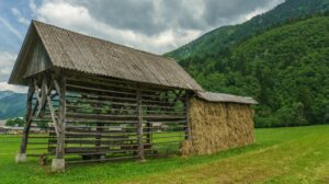 Bohinj Valley Hayrack in Slovenia
