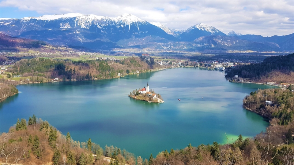 Lake Bled aerial view